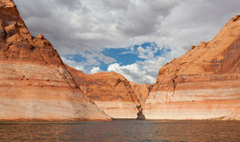 Lake Powell Winding Arm Royalty Free Stock Photography