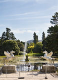 The lake at Powerscourt Mansion, Ireland Stock Image