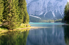 Lake prags in tyrol Royalty Free Stock Photography