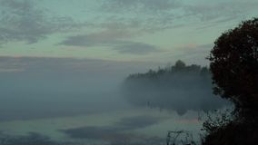 The lake in the pre-dawn stock footage