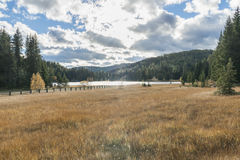Lake Prebersee in Lungau in Austria Royalty Free Stock Photos