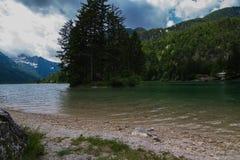 Lake Predil Stock Photo