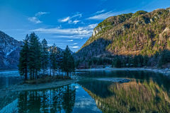 Lake Predil Stock Photo