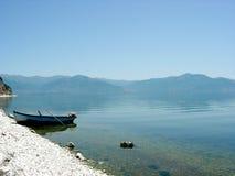 Lake Prespa in Macedonia Stock Photo