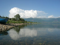 Lake Prespa in Macedonia Stock Image