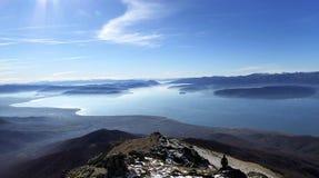 Lake Prespa, Macedonia. Picture of a Lake Prespa, Macedonia. View from National park Pelister Royalty Free Stock Photo