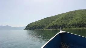 Lake prespa, macedonia stock video