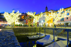 The lake promenade Piazza Mota, Ascona Stock Image