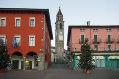The lake promenade Piazza Mota, Ascona Royalty Free Stock Photography