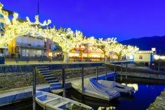 The lake promenade Piazza Mota, Ascona Stock Images