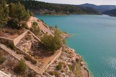 lake provence för kanalde france Fotografering för Bildbyråer