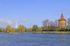 Lake in public city park of Malme. Sweden Stock Photo