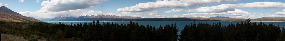 Lake Pukaki. Panoramic view of Lake Pukaki, South Island, New Zealand Stock Photography