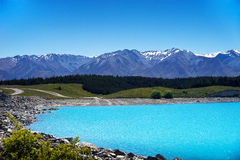 Lake Pukaki and the Alps Royalty Free Stock Images