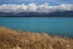 Lake Pukaki. Beautiful turqoise lake Pukaki in New Zealand Stock Photography