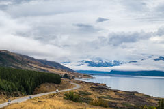 Lake Punkaki near Aoraki/Mt.Cook national park, New Zealand stock images