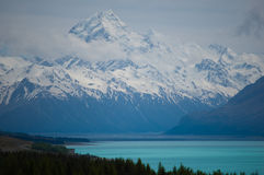 Lake Pukaki and Mount Cook Royalty Free Stock Photos