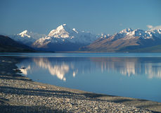 Lake Pukaki and Mount Cook Stock Photography