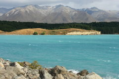 Lake Pukaki, Mt Cook National Park Royalty Free Stock Image