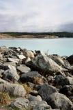 Lake Pukaki New Zealand. View of Lake Pukaki shoreline in New Zealand Stock Image