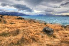 Lake Pukaki, New Zealand. Canterbury, New Zealand, South Island Stock Photos