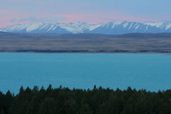 Lake Pukaki / New Zealand landscape. View of the Lake Pukaki / New Zealand landscape Stock Images