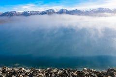 Lake Pukaki, New Zealand. Lake Pukaki in New Zealand South Island Stock Photos