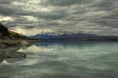 Lake Pukaki Shoreline Royalty Free Stock Photos