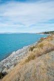 Lake Pukaki from Sideways Road to Aoraki Mount Cook Royalty Free Stock Image