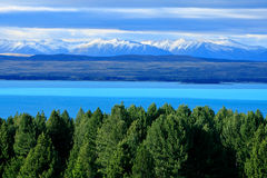 Lake Pukaki,South Island New Zealand. stock photography
