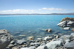 Lake Pukaki, South Island NZ Stock Image