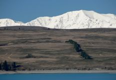 Lake Pukaki and Tekapo range, New Zealand Royalty Free Stock Images