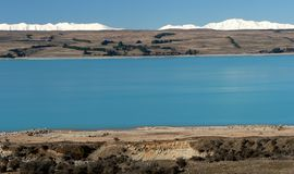 Lake Pukaki and Tekapo range, New Zealand Stock Photos