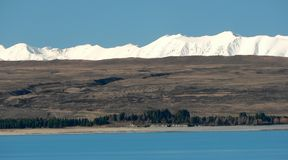 Lake Pukaki and Tekapo range, New Zealand Royalty Free Stock Photo