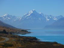 Lake pukaki. With a view on mt cook Stock Image