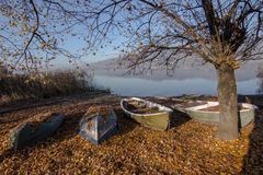 Lake of Pusiano stock image