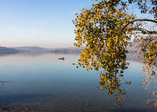 Lake of Pusiano royalty free stock images