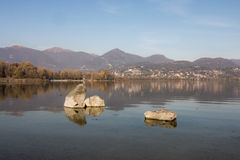 Lake of Pusiano stock photos