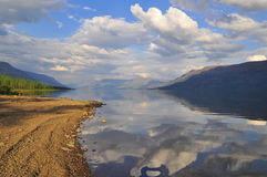 Lake of Putorana plateau in summer. Royalty Free Stock Photo
