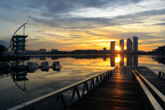 lake putrajaya royaltyfri foto