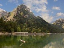 Lake in Pyrenees royalty free stock image