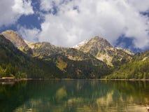 Lake in Pyrenees stock image