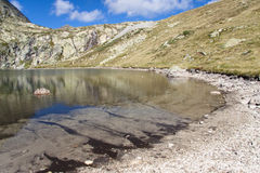 Lake in Pyrenees. View on small lake in Pyrenees mountain Royalty Free Stock Photography