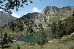 Lake in Pyrenees Royalty Free Stock Photo