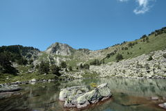 Lake in Pyrenees stock photos