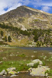 Lake of the Pyrenees. A landscape with a lake of the Pyrenees Stock Photography
