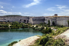The lake in the quarries Stock Photo