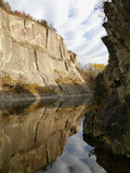 Lake in the quarry. Lake in an abandoned limestone quarry Royalty Free Stock Images