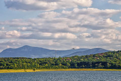 Lake Rabisha On The Background Of Balkan Mountains, Bulgaria Royalty Free Stock Photos