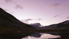 Lake of Racollo in Campo Imperatore in Italy stock video footage